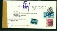 REGISTERED AIR MAIL COVER FROM USA TO AUSTRIA ON 20 SEP 1951-CENS. BY 403 OFFICE