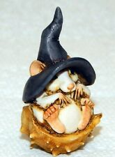 Harmony Kingdom Art Neil Eyre Designs Halloween Witch Mouse Mice Nut shell