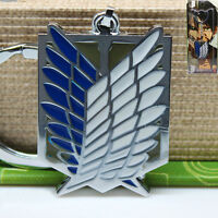 Anime Attack On Titan Survey Corps Logo Metal Key Chain Keychain Cosplay Gift