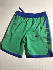 Boys Medium Nike Dri Fit Elite Stripe Short Aq9473 324 Green Blue