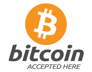 Sign Adhesive Gloss Sticker Notice Bitcoin Payment Accepted Here
