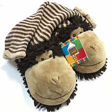 Carry Along Club Collection Koko The Monkey Plush Sock Slippers Adult One Size