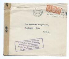 REPUBLICA DOMINICANA: Censored cover to USA 1943.