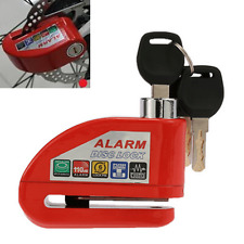 Red Motorcycle Anti-theft Disc Brake Lock Security Alarming Alarm Kit Heavy Duty