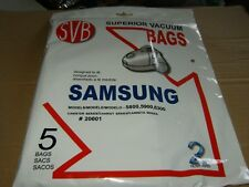 SVB Samsung 5800,5900,6300 (5) Vacuum Bags New and Sealed.