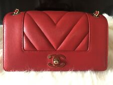 CHANEL RED CAVIAR MINI CLASSIC FLAP  RARE AND SOLD OUT! WITH RECEIPT
