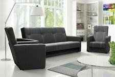 Couchgarnitur 3-tlg. TREVISTO  mit Schlaffunktion