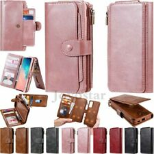 For Samsung S20 S10 S9 S8 Note 9 10 Magnetic Leather Wallet Case Removable Cover