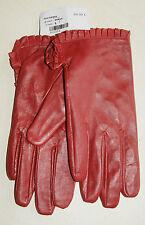 Paire de gants rouge bordeaux en cuir neuf taille S étiqueté à 59€