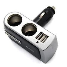 12V DC Car Charger Cigarette Lighter Double Power Adapter Socket Splitter Usb 1T