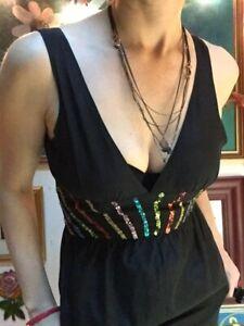Sass And Bide Silk Blend Dress, Size AU 8, EU 40, US 4, Black, Red, Blue, Pink