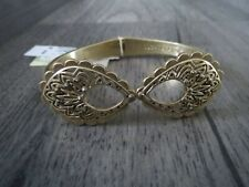 Lucky Brand gold tone cut out ~ crystal hinged bracelet, NWT