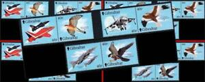 $$Wholesale $$ GIBRALTAR 2001 FIGHTER PLANES & BIRDS MNH AVIATION, MILITARY