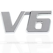 6*3cm 3D Chrome Metal V6 Car Auto Decoration Emblem Badge Decal Logo 1pc Sticker