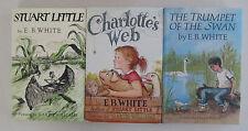 E.B. White - lot of 3 - Stuart Little, Charlotte's Web & The Trumpet of the Swan