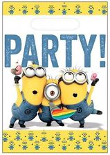 Despicable Me Minions Party bags (Pack of 8) against a white background