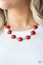 Adobe Attitude Red Necklace By: Paparazzi