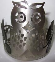 Owl Green Leaves Bath Body Works 14.5 oz 3-wick Candle Holder Sleeve