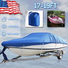 "95"" Beam Heavy Duty Waterproof Boat Cover Fishing Ski Bass V-hull 17 18 19 Ft"