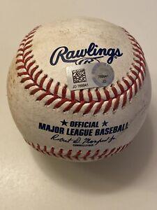 MLB Authenticated - Jon Berti Single & Pablo Lopez Fly Out Off Vince Velasquez
