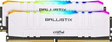 Crucial Ballistix RGB 16GB (2X8GB) BL2K8G32C16U4RL 3200 MHz, DDR4 DRAM, White