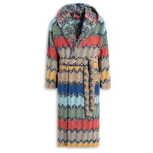 Missoni bathrobe with hood for man / woman in WILFRED terry cloth
