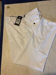 Under Armour Golf Showdown Straight Leg White Pants 1309545-100 Men Sz 34/30 NWT