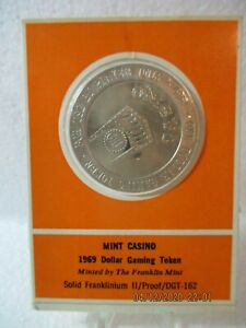 MINT CASINO 1969 Dollar Gaming Token Solid Franklinium II Proof DGT-162