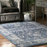 nuLOOM Traditional Vintage Florid Area Rug in Blue