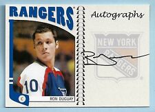 RON DUGUAY 2004/05 IN THE GAME ITG FRANCHISE AUTOGRAPH AUTO RANGERS