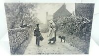 Vintage Tucks Postcard Two Villagers Passing the Time of Day c1910 Unposted  VGC