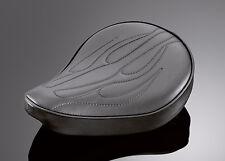 CUSTOM BOBBER/CHOPPER Black Flame Solo Seat: Harley & Metric Motorcycles 53-183