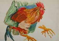Armenian Art Gallery,COCK STUDY,60s Watercolor,EDWARD SARKISYAN,Armenia,Armenien
