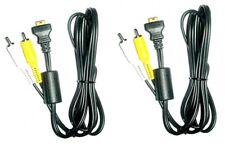 2 CASIO AV Cables for EX-S600 EX-Z60 EX-Z6 EX-S600D EXS600EO EX-S770BE EX-S880BK