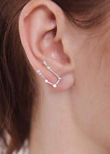 STERLING SILVER 925 CONSTELLATION GEMINI STAR EAR CRAWLER EAR CLIMBER ZODIAC