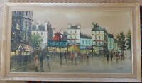 Original & Large Oil Painting - Moulin Rouge, Paris, signed.