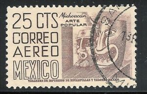 pa054 Mexico Arquite Used paper 2 Sc#C220A Mc#1024 Et#aa054 dark sienna