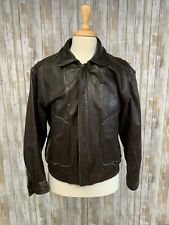 Banana Repubic Brown Leather Bomber Size 42 Medium Jacket Men's