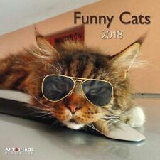 CALENDRIER 2018 - FUNNY CATS - 30 x 30 cm