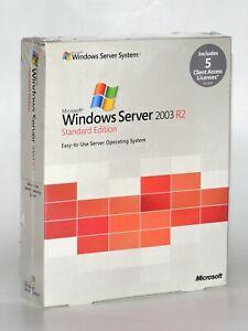 NEW Microsoft Windows Server 2003 R2 Standard  5 CAL RETAIL SEALED BOX