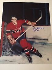 Jean Beliveau autographed 16 x 20 rookie skating photo