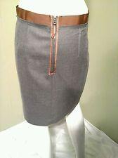 Ann Taylor LOFT Gray & Brown Skirt Size 06