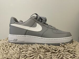 Nike Air Force One 1 Low, 820266-004, Gray/White, Mens Basketball Shoes, Size 12