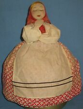 VINTAGE RUSSIAN 'TANYA' HP STOCKINET FACE STUFFED UPPER BODY TEA COZY LABEL
