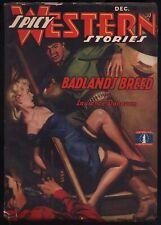Spicy Western - December, 1942 - VG+ - Original Pulp Magazine - NR