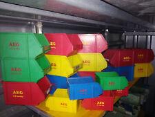 ALT origin.AEG Lagerboxen Stapelboxen Sichtlagerboxen in Ebay-Farben Gr.IV 285gr