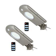 2 PCS Solar LED Street Road Light Outdoor IP65 Dusk to Dawn Sensor Lamp w/Remote