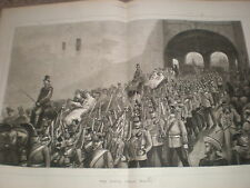 Procession at the Porta real Malta 1876 old print ref V