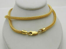 """14k Yellow Gold Hollow Chain with Fancy Design Necklace 14.3 grams 20"""""""