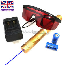 BX4-C 1MW 450nm Blue Laser Pointer Laser Torch Pen &Battery&Charger&Goggles UK